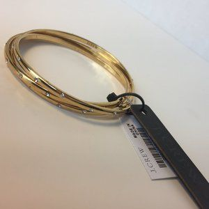 J.Crew Gold Bangle Set
